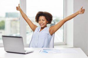 consultora alegre com resultados de vendas